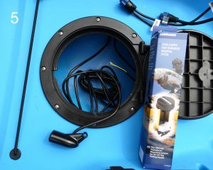 Scupper hole Lowrance