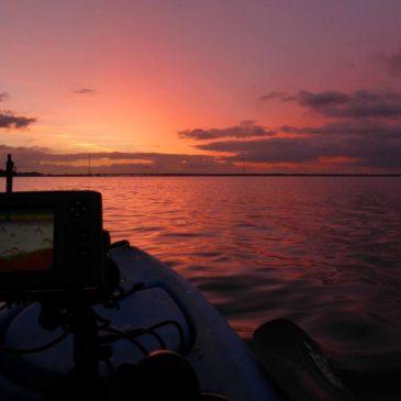 fishfinder positie kajak