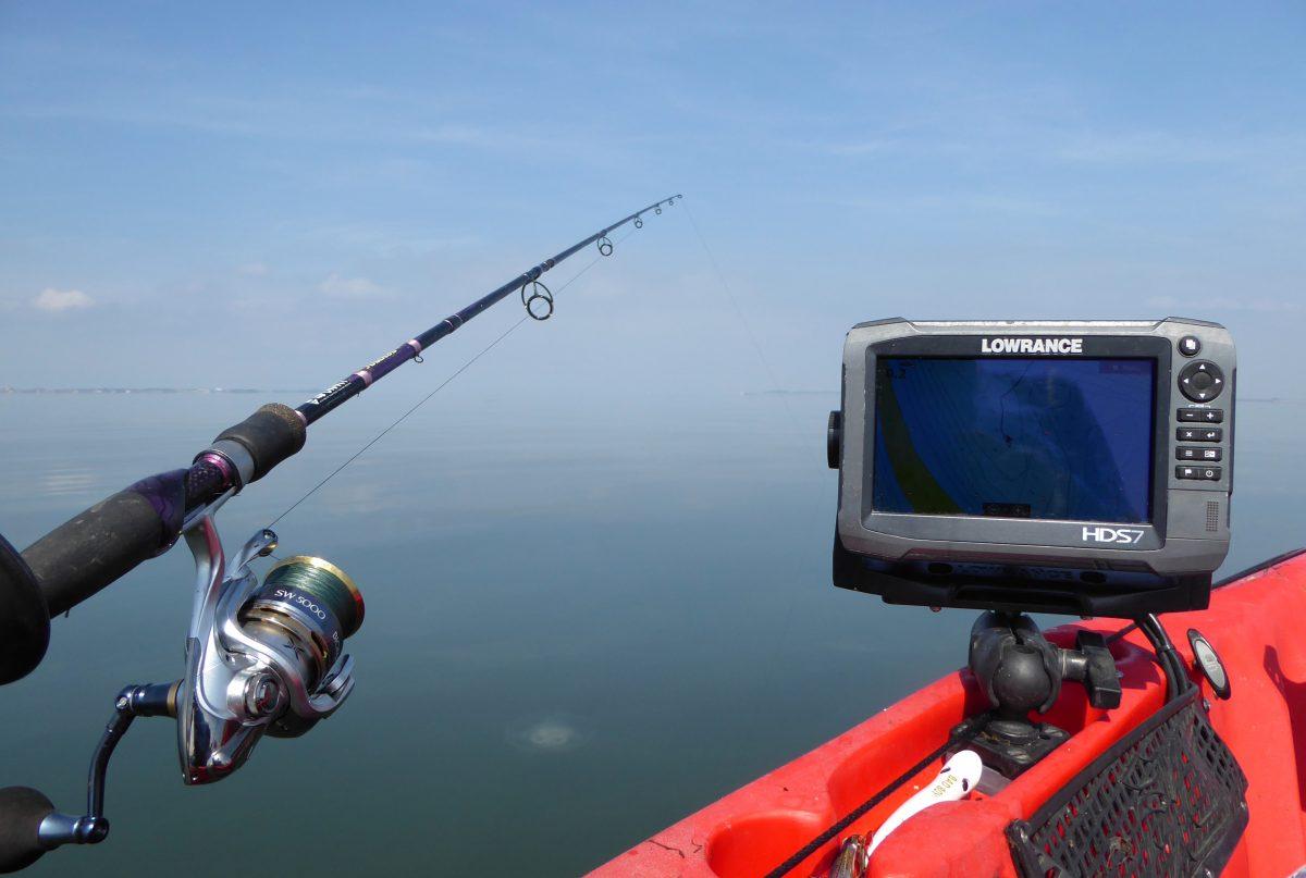 Statische visserij vanuit de kajak